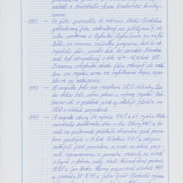 Kronika obce Rybník